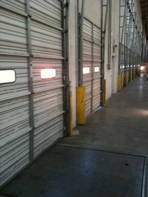 clothing warehouse bay doors