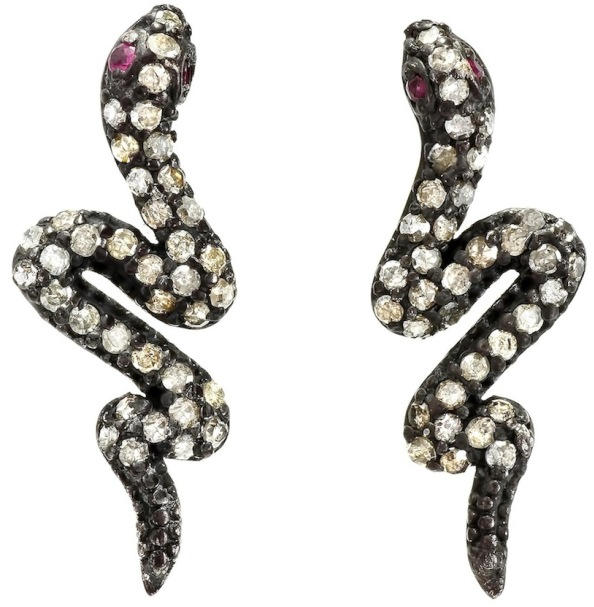 Elodie-K-Snake-Stud-Earrings