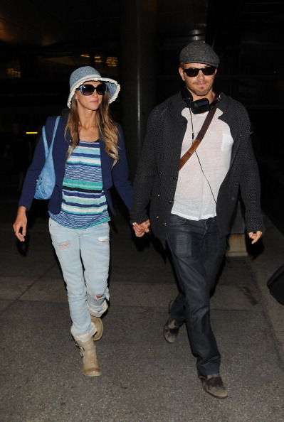Kellan Lutz was spotted at LAX Airport wearing a pair of John Varvatos shades
