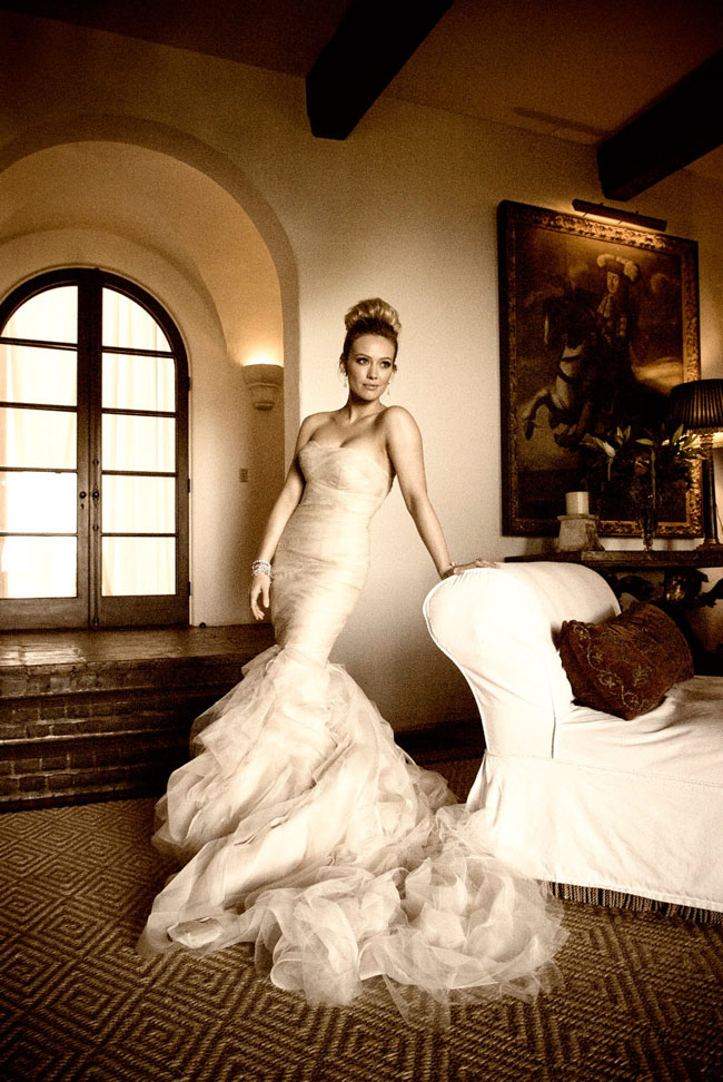 Learn More About The Hilary Duff Wedding Dress From Vera Wang