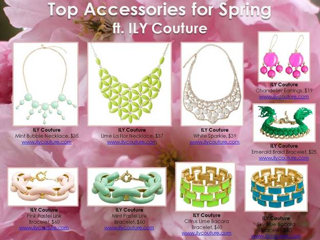 Ily Couture spring jewelry 2013