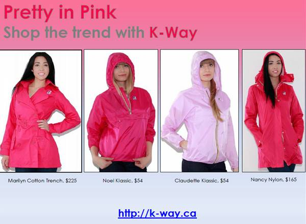 K-way pretty in pink jackets