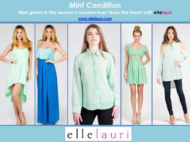 mint fashion color trend 2013
