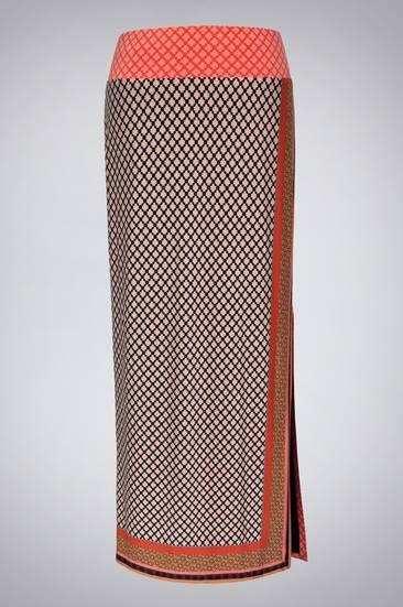 Scarf Print Maxi Skirt