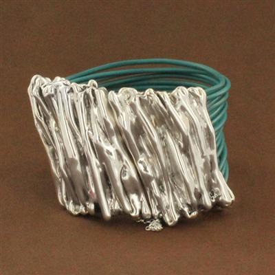Sterling-silver-electroform-bracelet