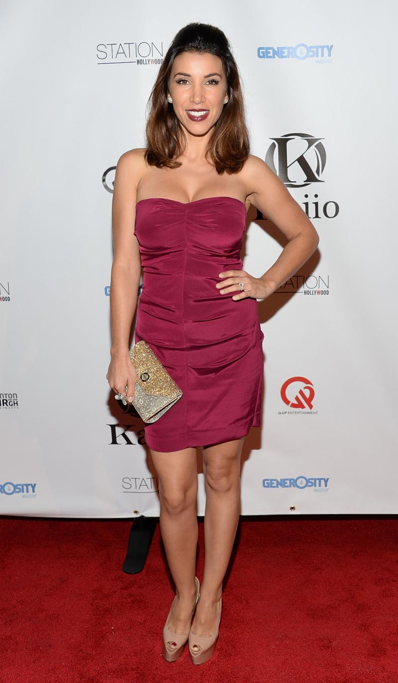 Adrianna Costa Carries Farbod Barsum On Red Carpet